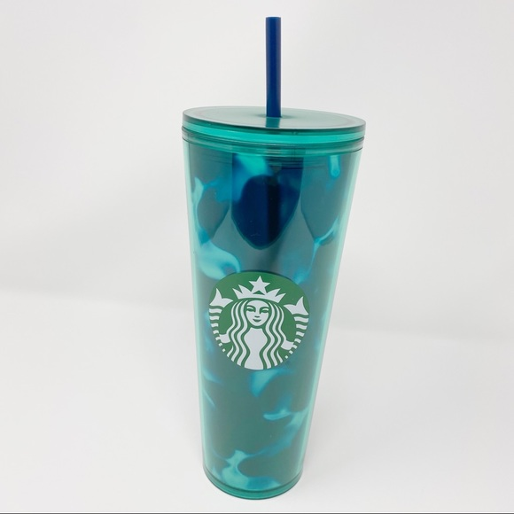 Starbucks Other - NEW Starbucks 2020 Turquoise Teal Wavy Tumbler